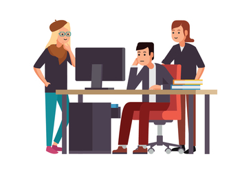 Working Together Vector - vector #419467 gratis