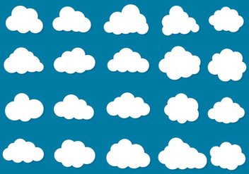 Free Vector Clouds Icon Collection - бесплатный vector #419477