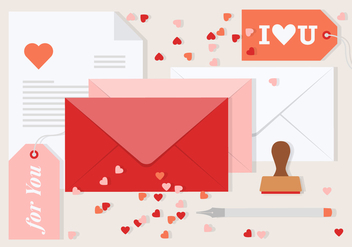 Free Vector Valentine's Day Envelope - Kostenloses vector #419507