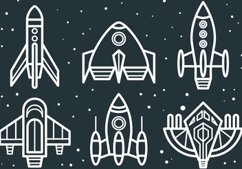 Free Starship Icons Vector - Kostenloses vector #419527