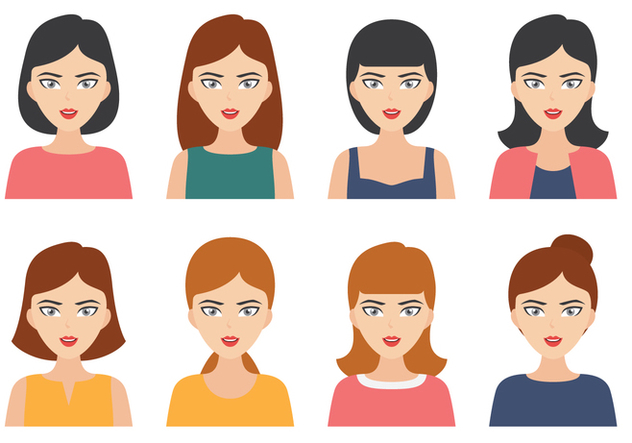 Woman Portrait Avatar - Free vector #419547