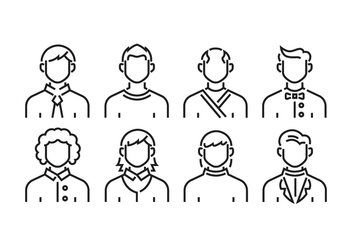 Men avatars - vector #419557 gratis