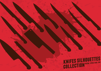 Knifes Silhouettes Collection - vector #419577 gratis