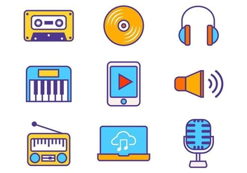 Free Music Icons Vector - бесплатный vector #419727