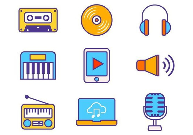 Free Music Icons Vector - vector gratuit #419727