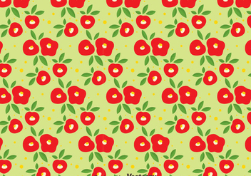 Red Camellia Flowers Seamless Pattern - Free vector #419817