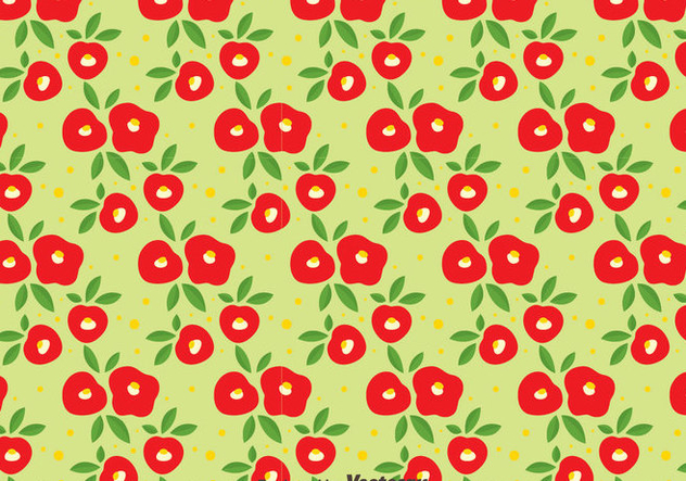 Red Camellia Flowers Seamless Pattern - Kostenloses vector #419817