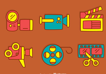 Hand Drawn Film Element Vector - Free vector #419837