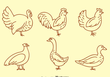 Fowl Line Icons Vector - Free vector #419847