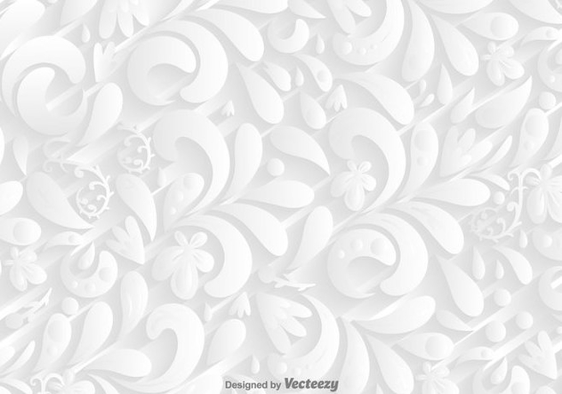 Vector White Ornamental Background - vector gratuit #419927