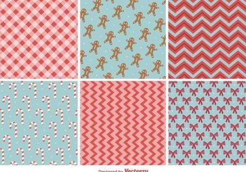 Christmas Vector Patterns - vector #419937 gratis