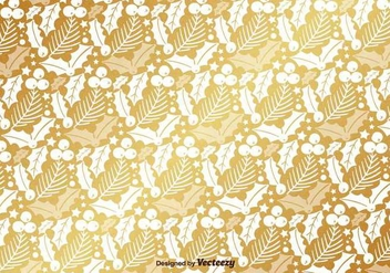 Golden Mistletoe Vector Pattern - Free vector #419957