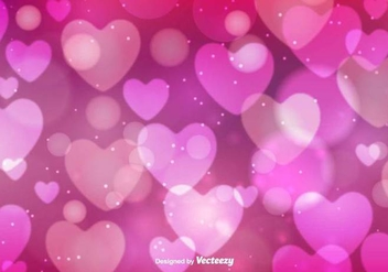 Hearts Bokeh Vector Background - vector gratuit #419967