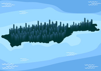 Manhattan Map Free Vector - vector #420037 gratis