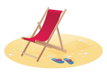 Wooden Chaise Lounge - Free vector #420077