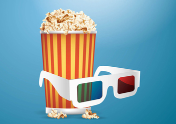 3D Movie Experience Vector - Free vector #420087