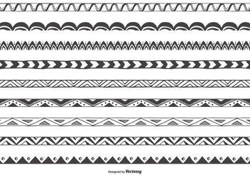 Decorative Sketchy Vector Border Collection - Kostenloses vector #420107