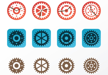Clock Parts Vectors - vector gratuit #420117
