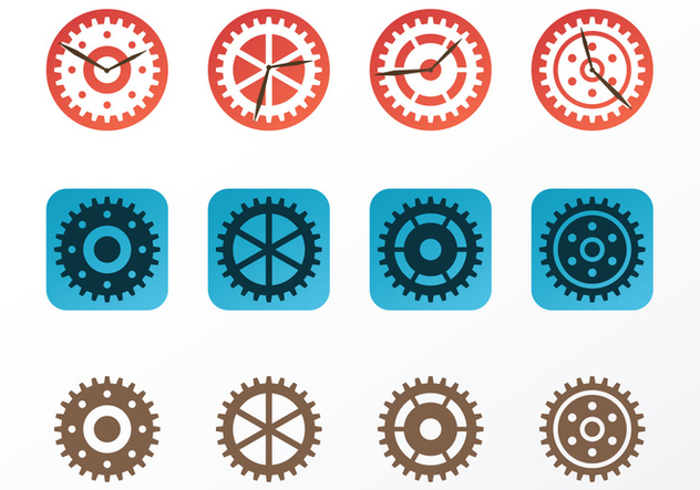 Clock Parts Vectors - vector #420117 gratis
