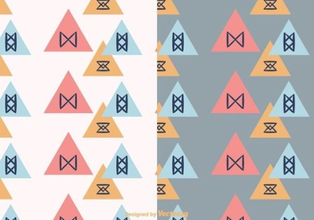 Triangle Geometric Backgrounds - Free vector #420127