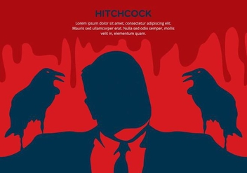 Red Hitchcock Background - vector gratuit #420157
