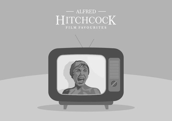 Hitchcock TV Background - Kostenloses vector #420167