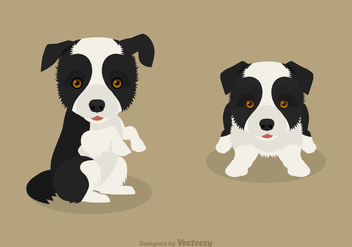 Free Vector Border Collie Puppies - Kostenloses vector #420247