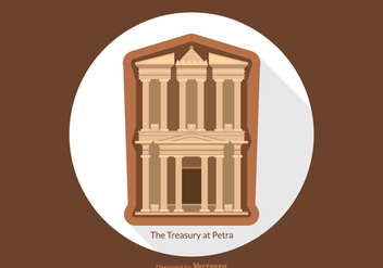 Free Vector Treasury At Petra - Free vector #420257