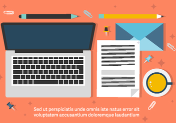 Free Business Workdesk Illustration - Kostenloses vector #420297