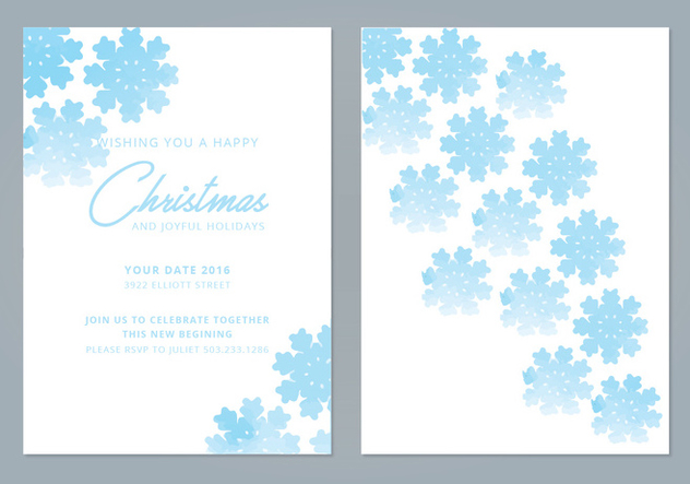 Snowflake Vector Winter Cards - vector #420307 gratis