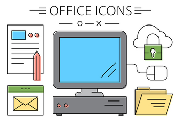 Free Office Icons - vector gratuit #420327