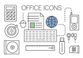 Free Office Icons - vector #420337 gratis