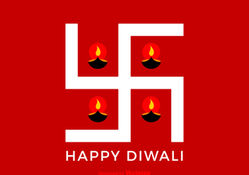 Free Vector Happy Diwali Swastika - Free vector #420417