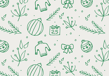 Free Christmas Hand Drawn Pattern Background - vector gratuit #420487