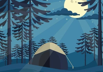 Free Forest Vector Illustration - бесплатный vector #420497