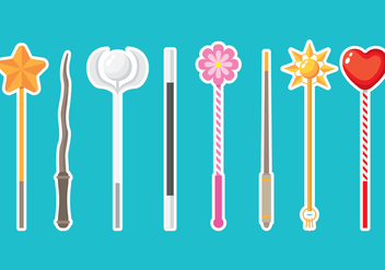 Magic Stick Icons - vector #420667 gratis