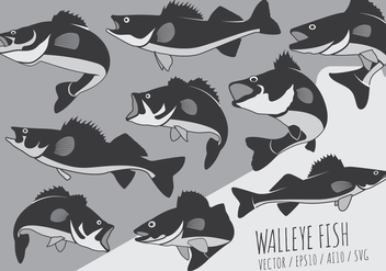 Fish Perch and Walleye Vectors - vector gratuit #420687
