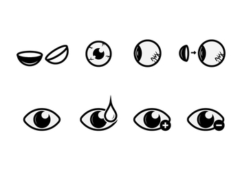 Free Eyes Vector Icons - vector gratuit #420707