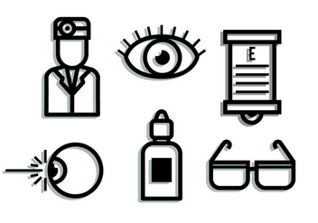 Eye Doctor Shadow Elements - vector gratuit #420747
