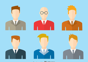 Businessman Headshot Vector - Kostenloses vector #420757