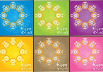 Diwali Invitation Vectors - Free vector #420877