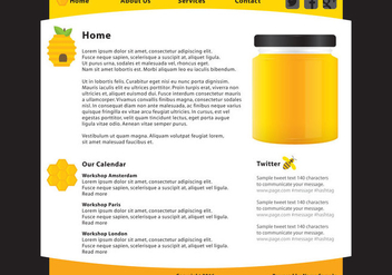 Honey Food Web Page Template Vector - Free vector #420897
