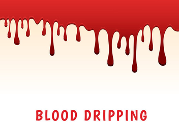 Blood dripping vector - vector gratuit #420947