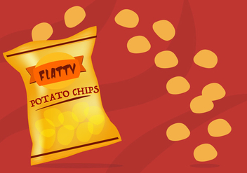 Flat Bag of Chips Free Vector - vector gratuit #420967
