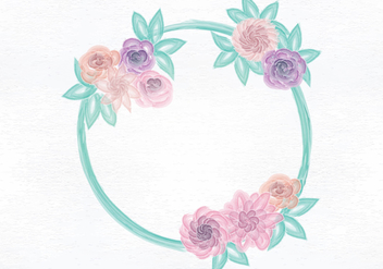 Vector Watercolor Wreath - Free vector #420977