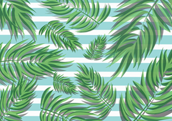 Tropical Palm Leaves - vector #421067 gratis