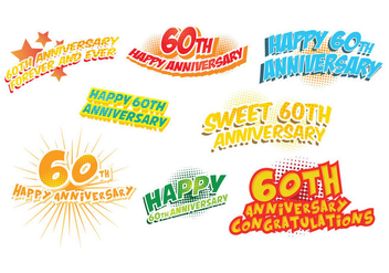 Free 60th Anniversary Vector - бесплатный vector #421137