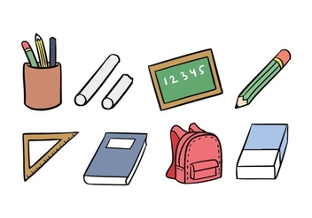 School Icon Set - vector gratuit #421297