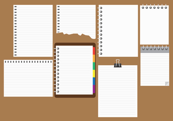 Free Block Notes Collection Vector - vector gratuit #421307