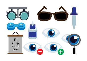 Free Eye Doctor Vector Icons - vector #421327 gratis